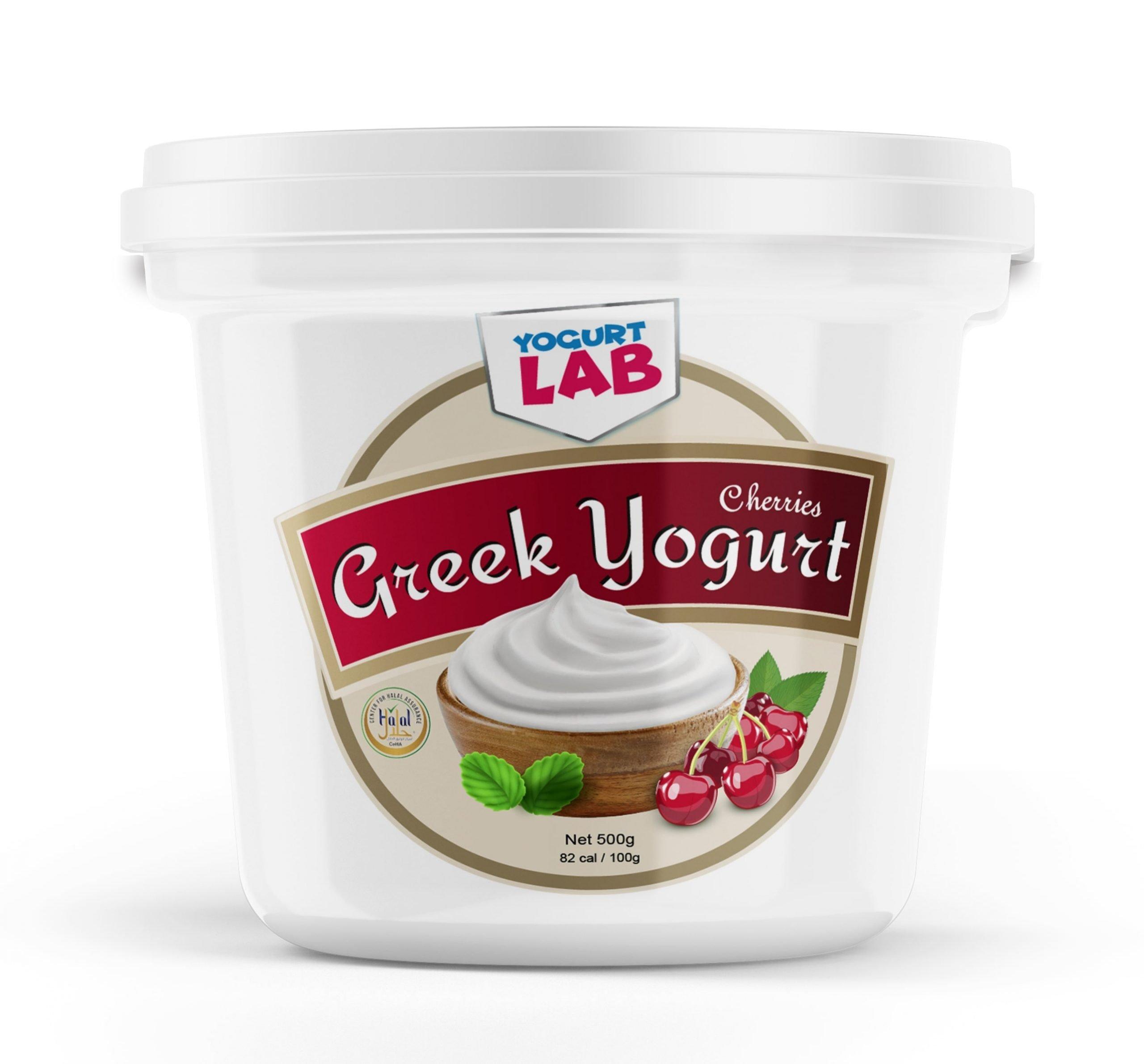 greek yogurt cherries